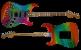 Stratocaster Gitaar gepimpt