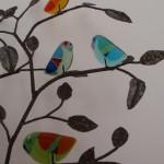 summer birds van irene van der does de bije glaskunst vetro colorito kunstpost mariahoeve bezuidenhout