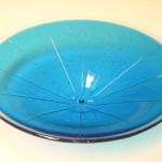 Turquoise schaal irene van der does de bye glaskunst vetro colorito kunstpost den haag mariahoeve bezuidenhout