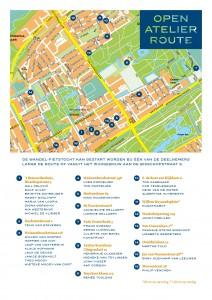 Kaartje open atelierroute benoordenhout 2014